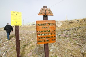 The trailhead in Flatrock.