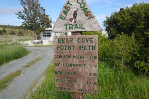 At the end of some narrow, winding roads, one finds the Bear Cove Point Path trailhead!
